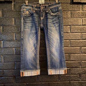 Rock Revival Denim Kella Crop Jeans size 25